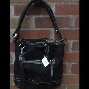 NEW coach handbag w/wristlet black